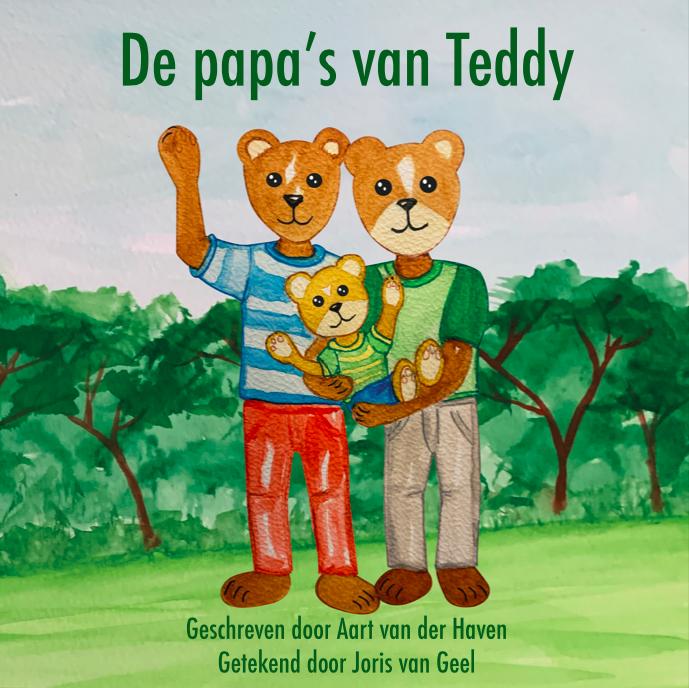 Kinderboek draagmoederschap Papas van Teddy
